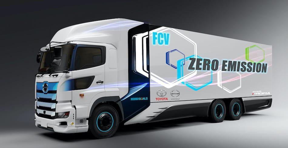 Desarrollan Toyota y Hino un camión pesado de celdas de combustible