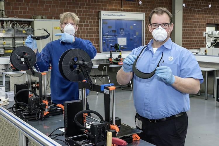 Produce VW protectores faciales con impresión 3D