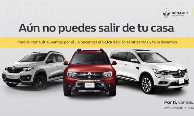 Renault México hace el servicio a los vehículos sin salir de casa