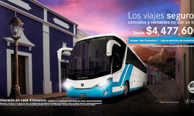 Dispone Mercedes-Benz Autobuses de atractivos planes para adquirir unidades