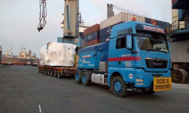 El desafío de transportar 138 toneladas de maquinaria