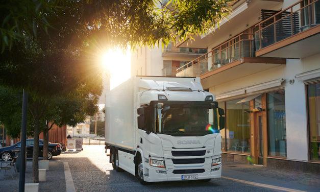 Lanza Scania plataforma de vehículos eléctricos