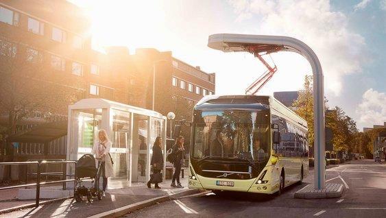 Reutilizan baterías de los autobuses Volvo