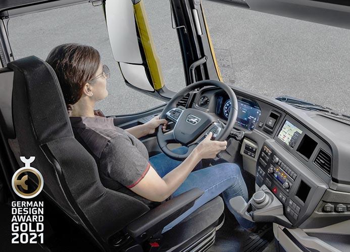Cabina de camiones MAN logra premio oro de diseño