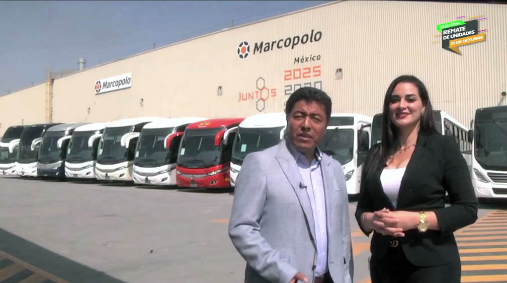 La Feria de remate de unidades Marcopolo ofreció 33 autobuses de 16 modelos diferentes fabricados con tecnología e innovación2