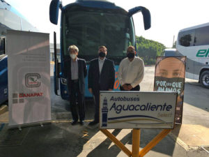 La Central de Autobuses de Tijuana se suma a la campaña de CANAPAT Así se usa que promueve el uso correcto del cubrebocas