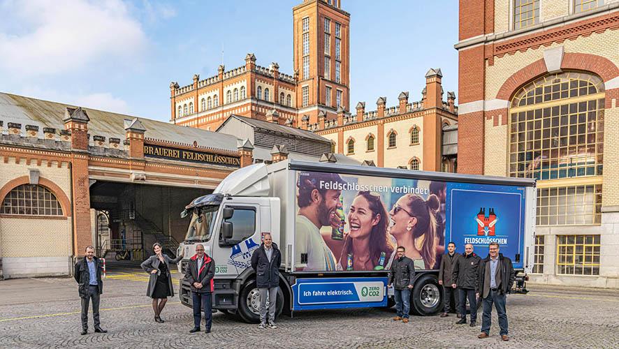 Camión eléctrico Renault para Grupo Carlsberg