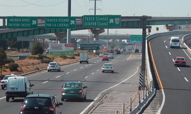 Cerrarán dos carriles en la México-Toluca