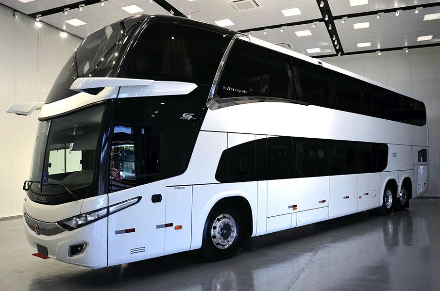 El primer autobús sin espejos - Marcopolo