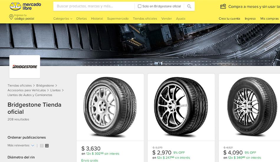 Primera tienda oficial online de Bridgestone