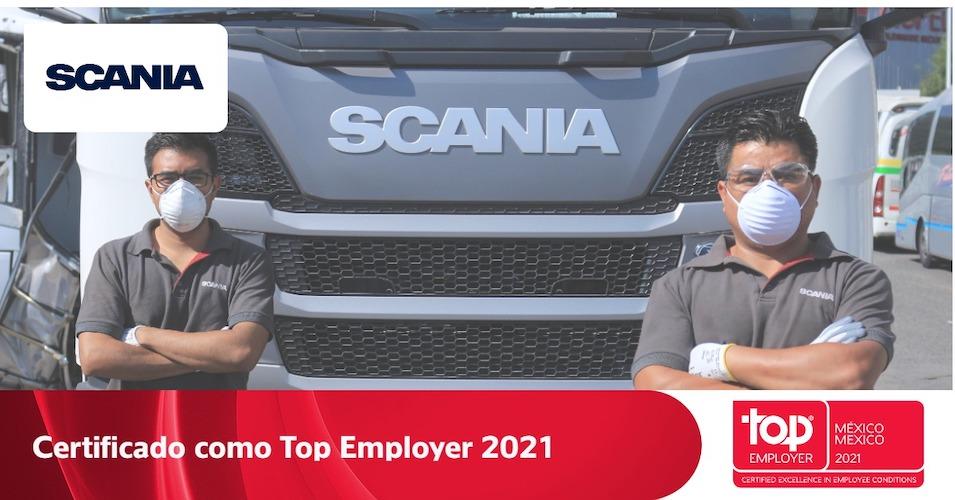Certificación Top Employers para Scania México