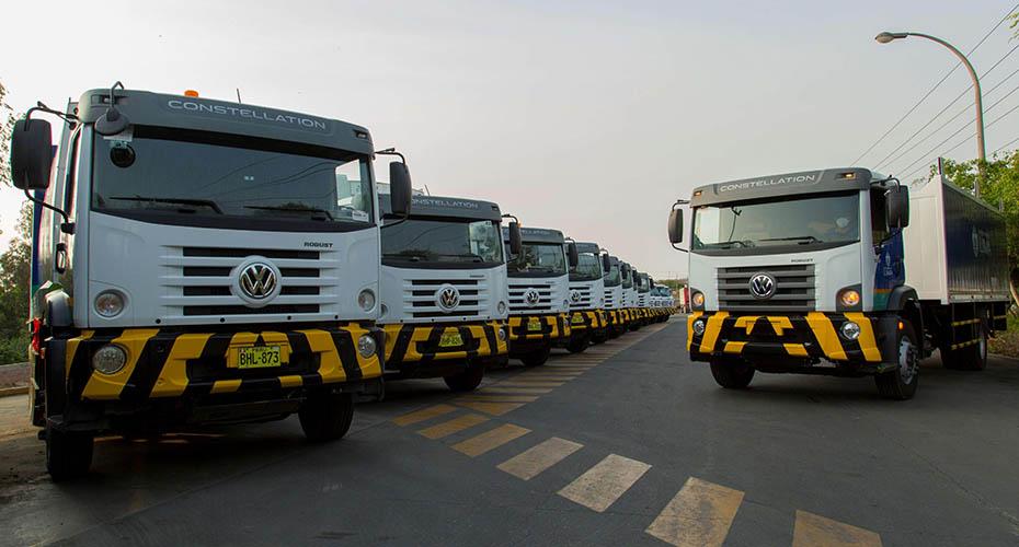 Camiones VW renuevan flota de limpieza