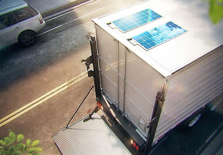 Paneles solares para los equipos frigoríficos