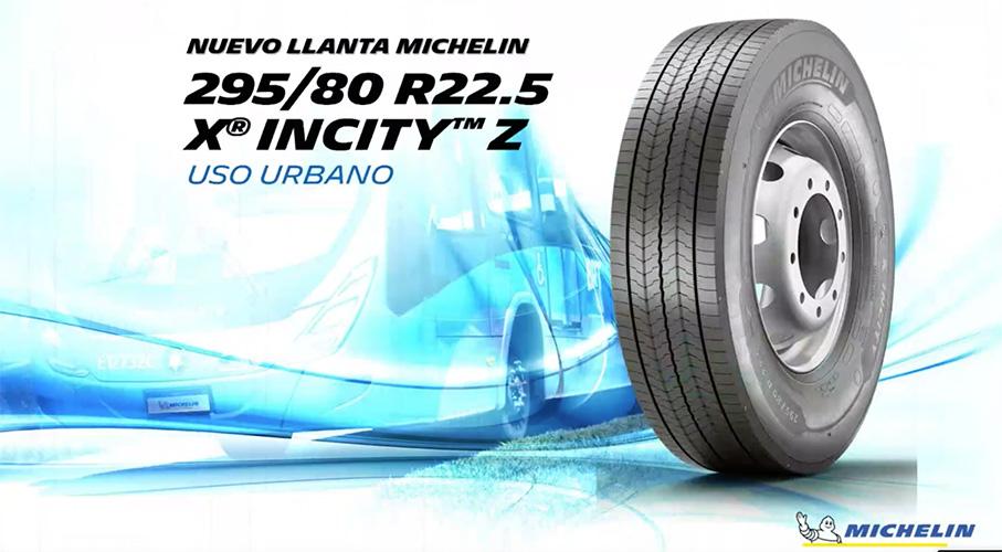 Para urbanos y BRT llanta Michelin X INCITY Z