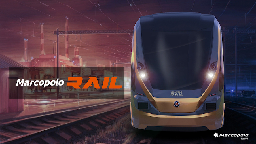 Prosper VLT de Marcopolo en segmento ferroviario