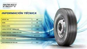 características llanta Michelin X INCITY Z