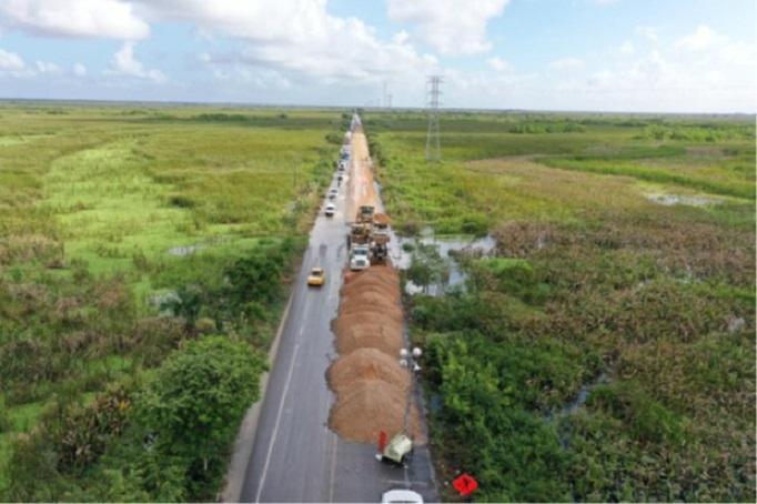 Avanza reconstrucción en carreteras de Tabasco