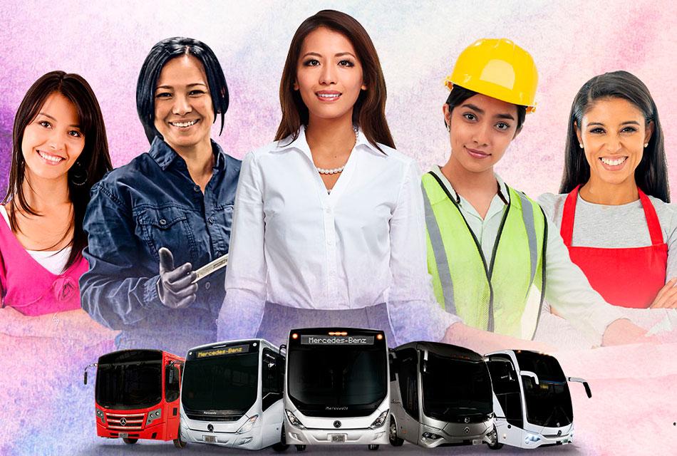 Valora Mercedes-Benz participación de las mujeres