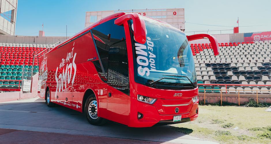 Mineros de Zacatecas reciben bus Mercedes-Benz