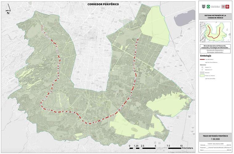 Corredor Periférico: Metrobús licita estudio