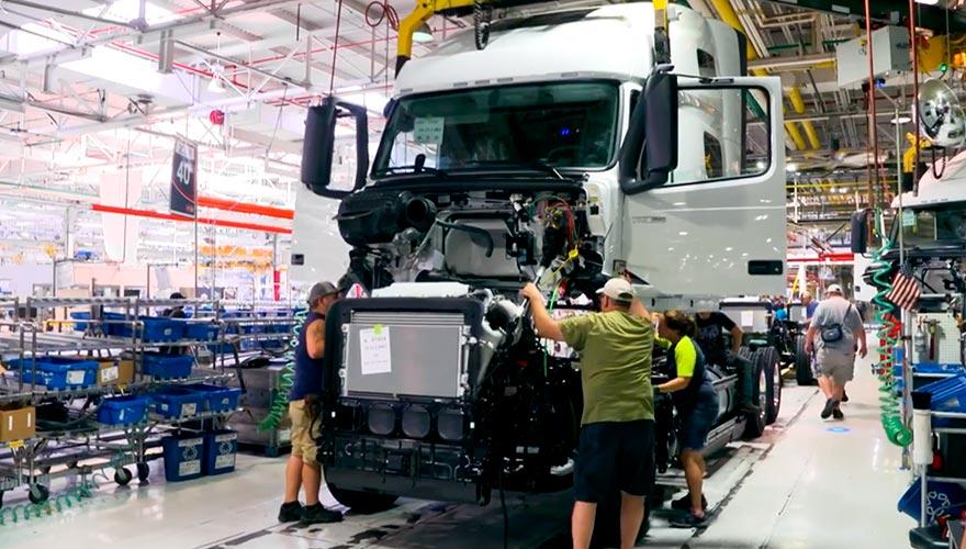 Huelga en planta de Volvo Trucks NA