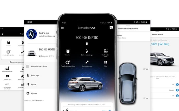muestra app Mercedes