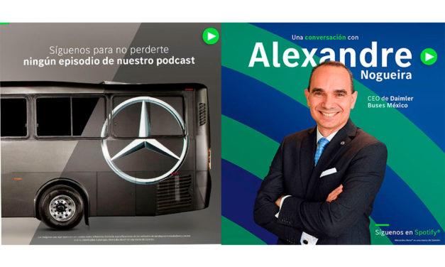 Presentan podcast de Mercedes-Benz Autobuses