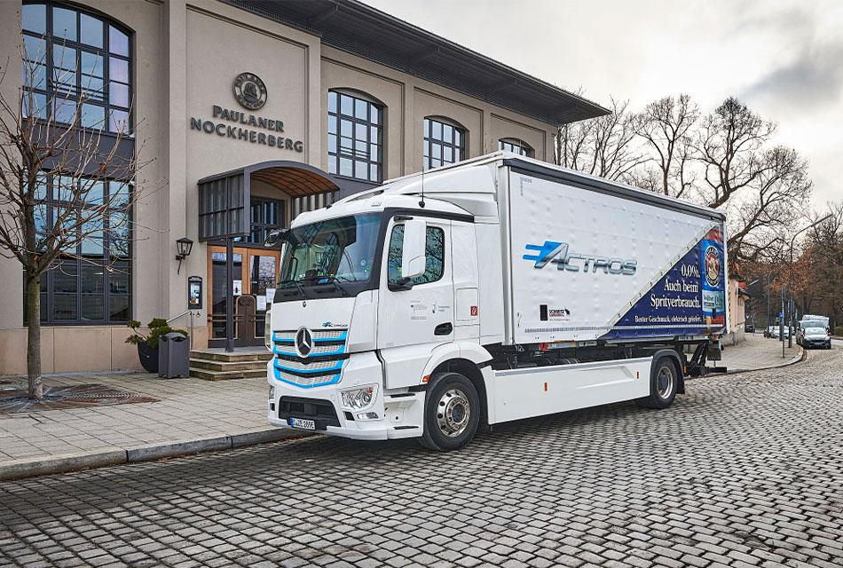 Prueban el eActros de Mercedes-Benz Trucks