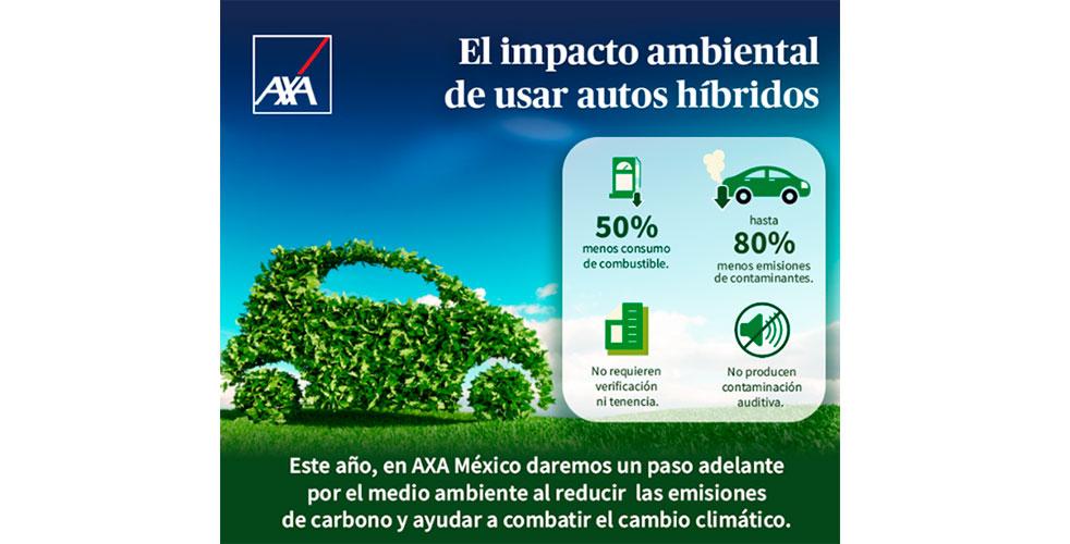 AXA México se transportará en vehículos híbridos