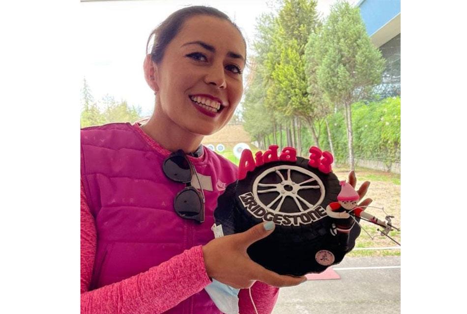 Apoya Bridgestone a la arquera Aída Román