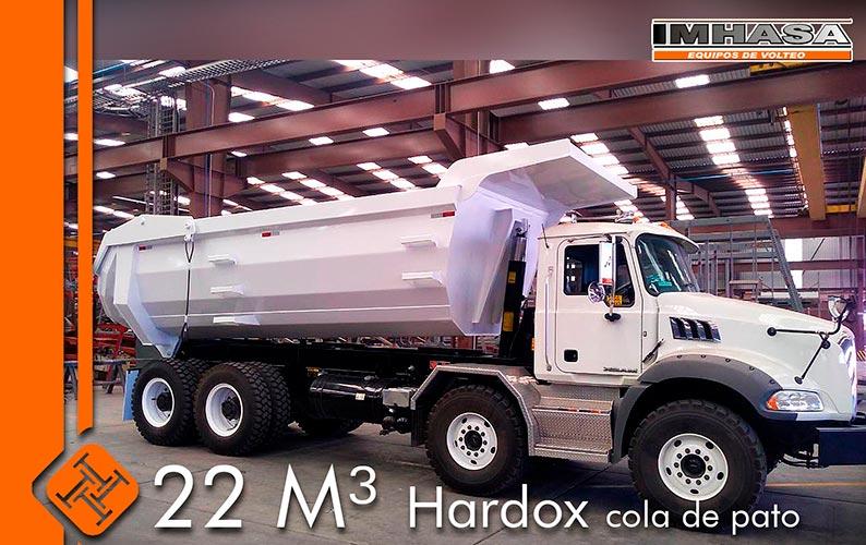 IMHASA fabrica equipo de volteo con acero Hardox