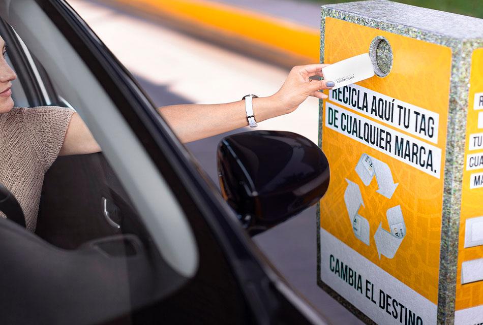 Organiza Televía campaña de reciclaje de tags