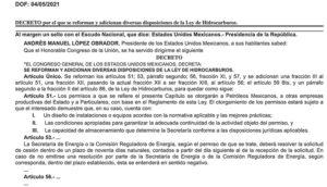 decreto Ley Hidrocarburos