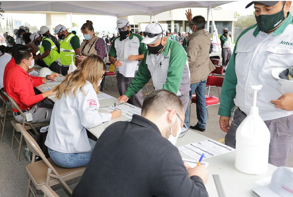 Nissan Aguascalientes contribuye a la vacunación
