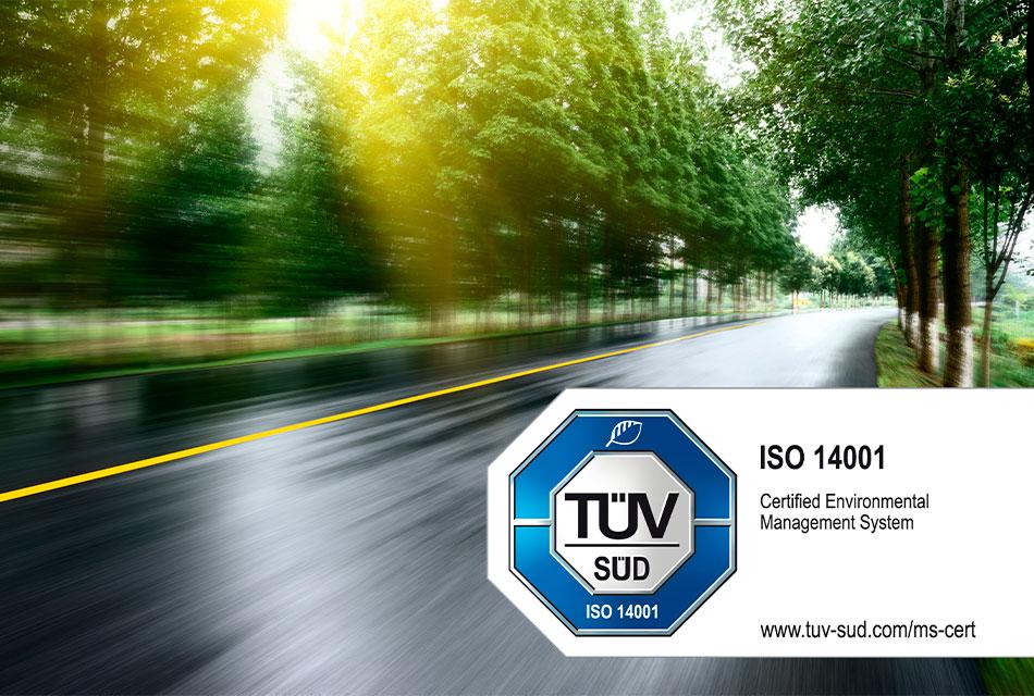 Obtiene Webfleet certificación ISO 14001:2015