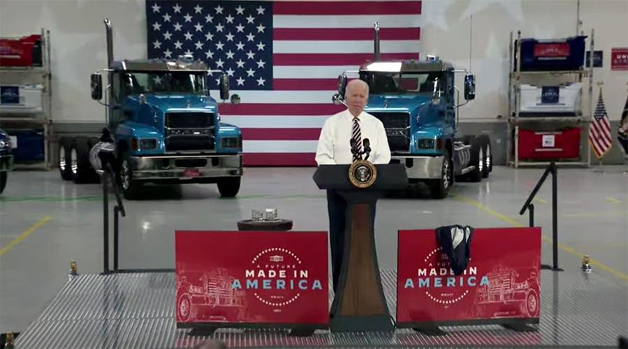 En planta Mack Biden impulsa manufactura de EU