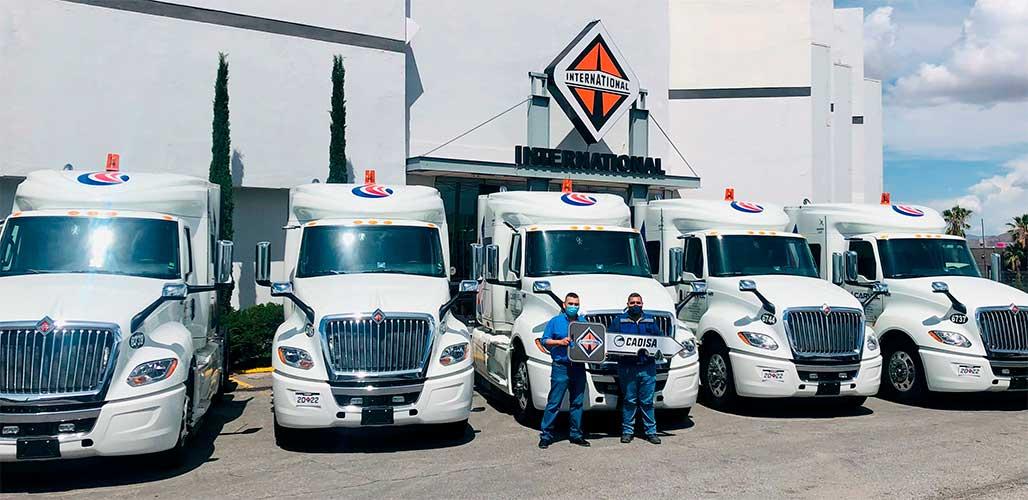 64 camiones International al norte del país