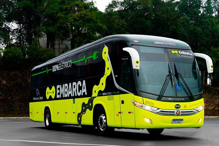 Marcopolo y BYD ponen a prueba e-bus interurbano
