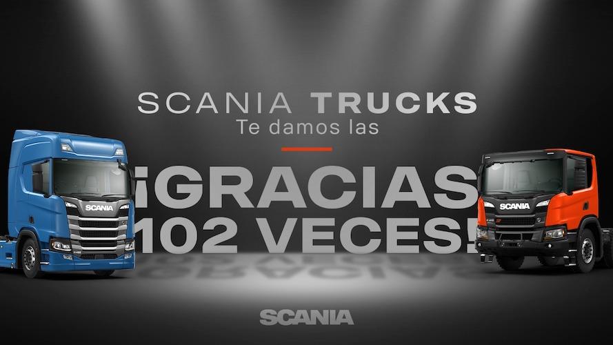 Récord de facturación Scania 102 camiones en 1 mes